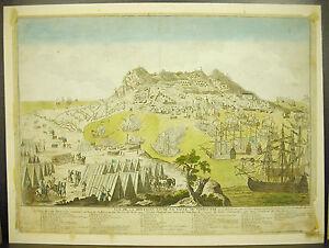 Gibraltar Seat Of 1779 Battle Dom Barceló Dom Joachimde Mendoza 18th