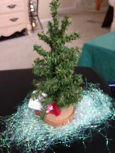 Scotch Pine Christmas Tree.Details About Vintage 7 Green Scotch Pine Brush Artificial Mini Christmas Tree On Wood Base