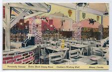 Cashier Wishing Well Robin Hood Dining Room Miami Florida linen postcard