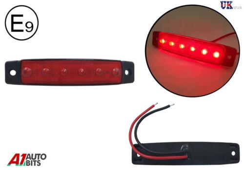 Markierungsleuchte Blinker Anhänger LKW Bus 12V 1 x 6 LED rot Seite Hinter