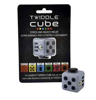 Twiddle Cube Grey Stress Anxiety Buster (Autism,ADHD,Special Needs) *BRAND NEW*