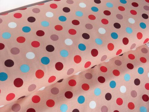 Jersey Tissu baumwolljersey Enfants Tissu Points Pois Pointillés ROSA Rosé 24095