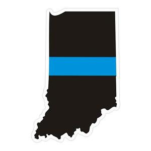 Indiana-IN-State-Thin-Blue-Line-Police-Sticker-Decal-179-Made-in-U-S-A
