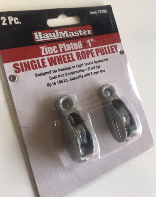 Haul Master Single Wheel Rope Pulley Zinc Plated 1 92296 2 Per Pack