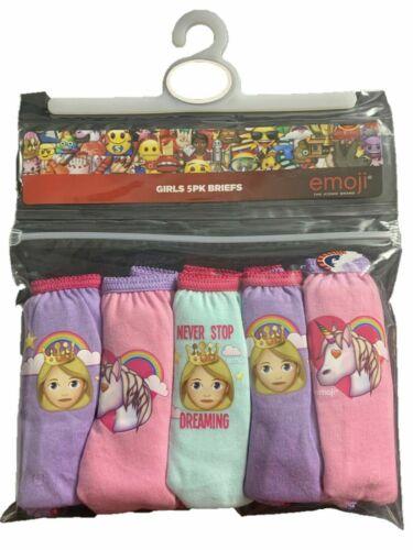Girls briefs Emoji Unicorn 5 packs underwear set knickers pants cotton new