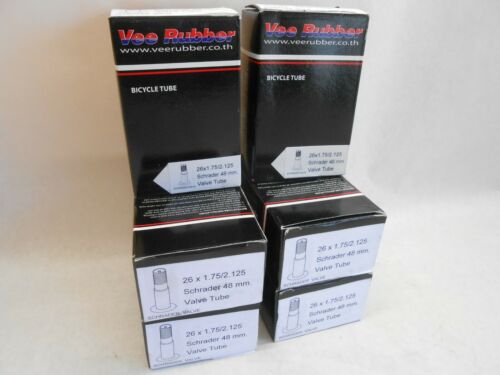 "2.125/"" Tire Tube Bicycle Bike 48MM American Valve 2 Pack 26/"" X 1.75/"""