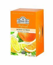 New ! 20 Foil Tea bags Ahmad Tea Mixed Citrus Flavoured  Black Tea