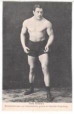 Ringer H.Schwarz Nackter Mann Wrestler male semi nude Bodybuilder c 1910 Gay Int