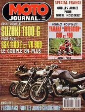 MOTO JOURNAL  998 YAMAHA XJ 600 S Diversion 400 SUZUKI GSX-F 1100 G VX 800 MBK