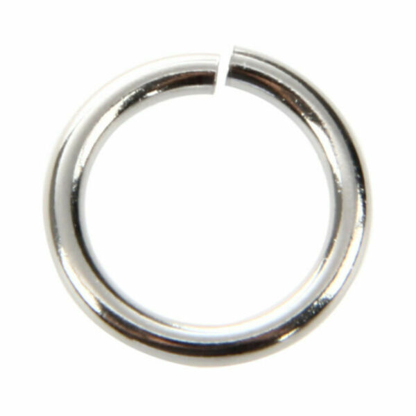 """Findings 5//8/"""" 100PCs  Newest Silver Tone Stainless Steel Open Rings 15mm"""