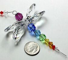m/w SWAROVSKI CRYSTAL Clear Wings Chakra Dragonfly Chakra Strand SunCatcher