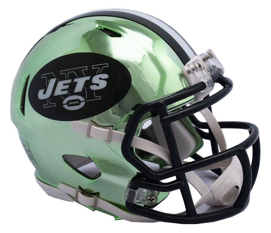 NFL Football Mini Helm NEW YORK NY JETS Speed Chrome Footballhelm Helmet