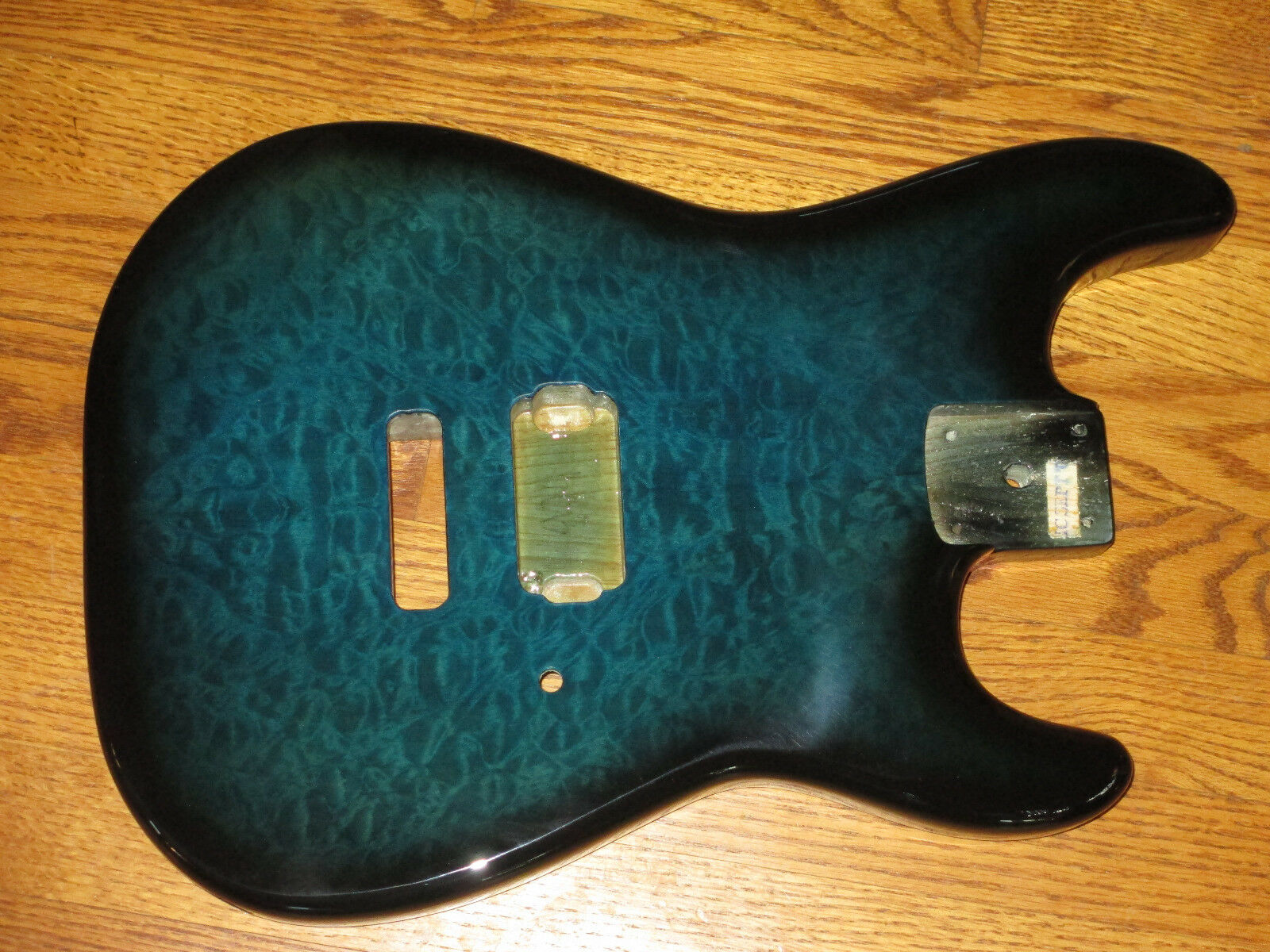 MIGHTY MITE BODY FITS FENDER STRATOCASTER 2 3 16th GUITAR NECK NATURAL QUILT TOP