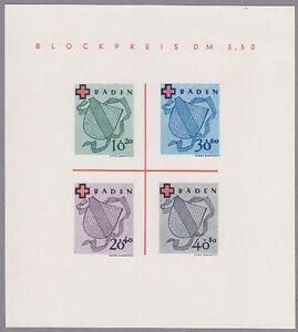 Baden-Block-Mi-Nr-2-Type-I-III-postfrisch