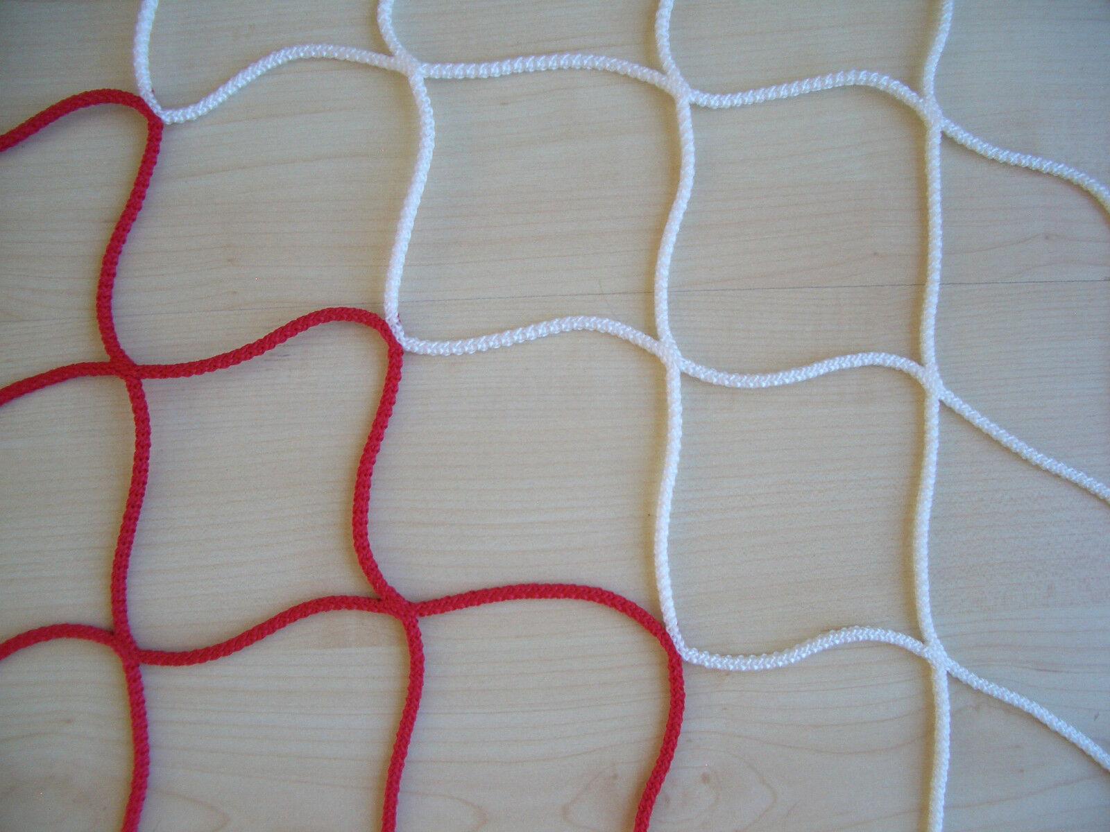 Fußballnetz, Fußballtornetz, Tornetz Jugendtor 5x2m, 100/100, PP 4mm, rot/weiß