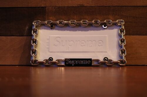 Free Caps FILLET AND RELEASE fishing supreme chrome metal license plate frame