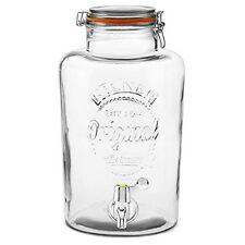 Large Kilner Clip Top Storage Drink Wine Beverage Dispenser Jar With Tap 8L New