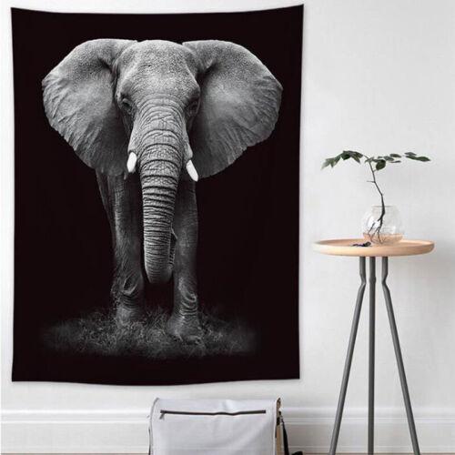 Galaxy Tapestry Sun Moon Animal Print Natural Bedspread Wall Hanging Home Decor