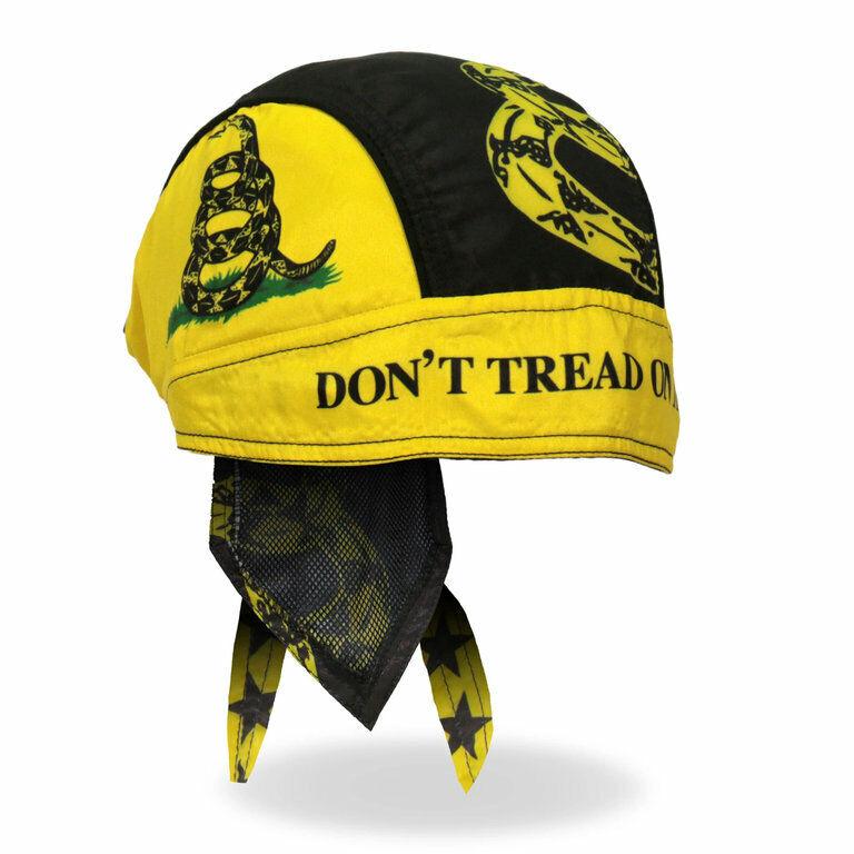 Biker Chopper Kopftuch Bandana Headwrap Don`t Tread On Me Gadsden Flag USA Fahne