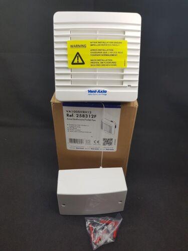 "Vent Axia va100svxh12 100 MM 4/"" 100 mm LV Bathroom Fan Pullcord Humidistat 258312 F"
