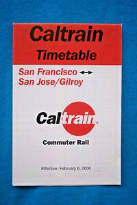 Caltrain-Schedule-San-Francisco-to-San-Jose-Gilroy-Feb-6-2000