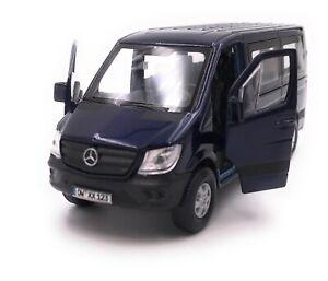 Mercedes-Benz-Sprinter-fenetre-bleu-voiture-miniature-avec-Desir-d-039-immatriculation-1-34