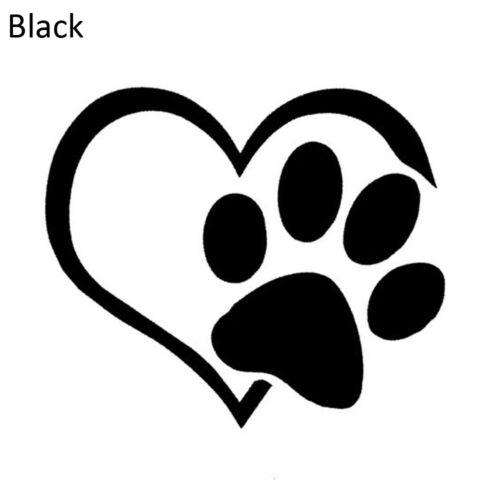 4 Colors Lovely Peach Heart Pet Footprint Window Decal Car Reflective Sticker
