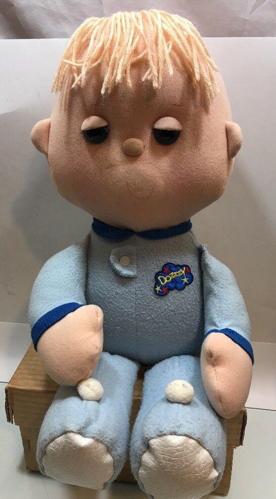 Vintage Muñeca de Juguete de Niño Azul Galoob dozzzy 1987 Raro Cassette Pijamas de no en funcionamiento