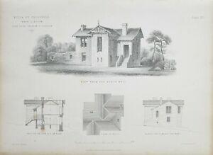 1868-Architektonisch-Aufdruck-Villa-bei-Crosshill-John-Baird-Architekt-Dach-Plan