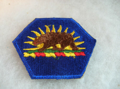 50//60/'s CALIFORNIA NATIONAL GUARD HEADQUARTERS COTTON EMBROIDERED WITH CUT EDGE