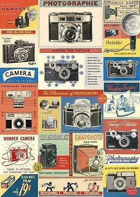 Cavallini Vintage Camera Flat Wrap