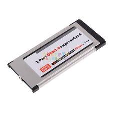 2-Port-USB-3-0-to-Express-Card-ExpressCard-34mm-54mm-Adapter-Hidden-For-laptop