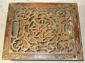 Antique victorian 10 x 12 cast iron 3 louver floor heat for 10 x 12 floor grate