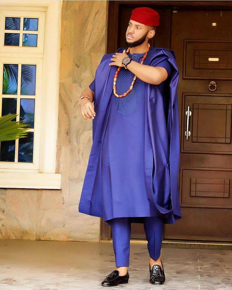AGBADA, African AGBADA, AGBADA for men, African wedding suit, Groomsmen suit...