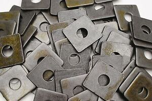 40-Plain-Steel-5-8-x-2-Square-Plate-Washers-3-16-Thick-Unplated