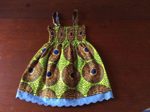 elección del color disponible Africana impresión Ankara Baby Vestido