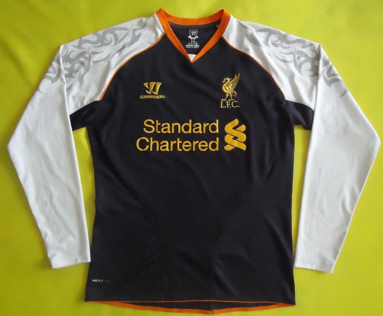 4.9 5 Liverpool third jersey small 2012 2013 long sleeve shirt warrior ig93