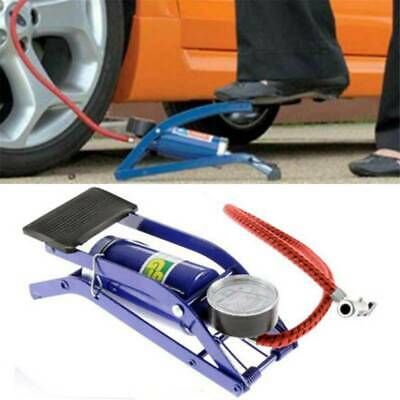 Air Pump Single Cylinder Barrel Tyre Inflator Foot Pump For Car Bicycle Bike~