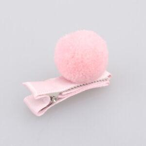 Girls-Hair-Pin-Baby-Kids-Hair-Clip-Cute-Color-Ball-Hair-Accessories-Pink