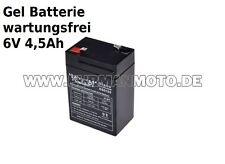 Gel Batterie 6V 4,5Ah für Simson KR51 Schwalbe NEU HUAWEI PREIS INKL PFAND