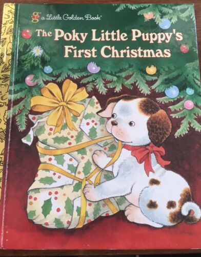1 of 1 - Little Golden Book The Poky Little Puppy's First Christmas Hardcover Book