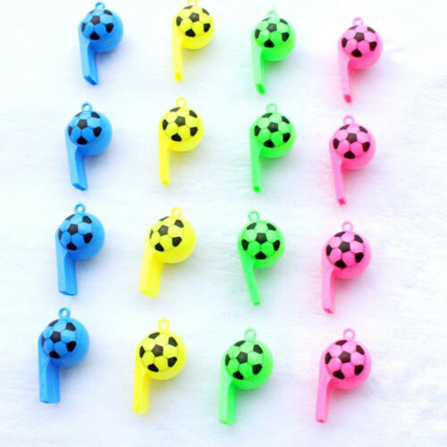 10Pcs Mini Kids Children Soccer Football Whistle Cheerleading Party Arena Toy US