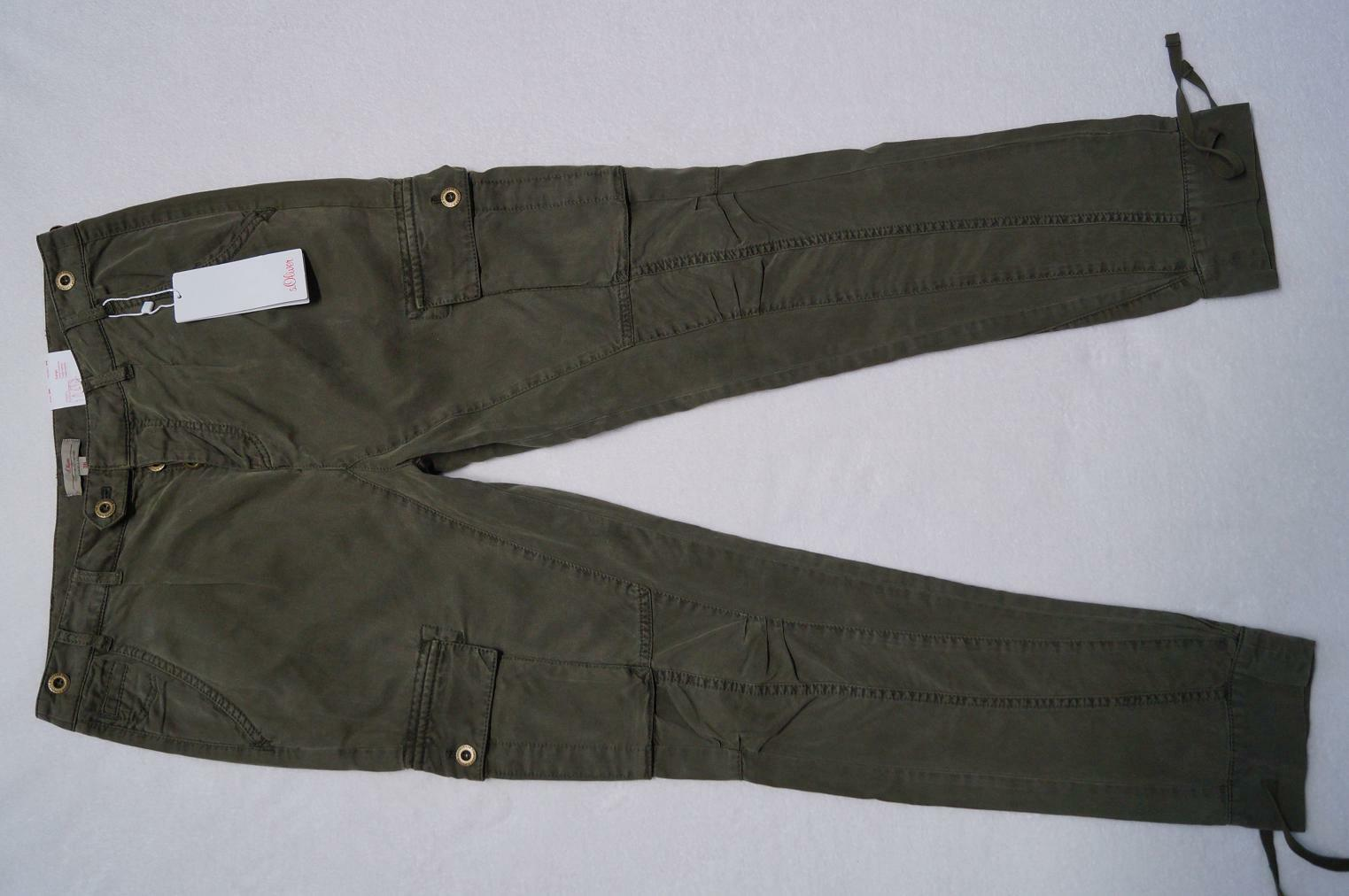 S. Oliver Cargo Trousers Cargo Hose Größe 36, 38, 40, 42, 44, 46 l32 4 Farbes NEW