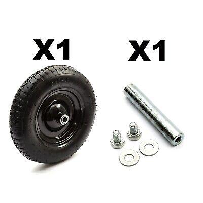 14'' 4 Ply 3.50-8 Carriola Metallo Ruota E Pneumatico + Cartina + Axle +