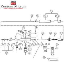 ANEST IWATA 0.18 mm Nozzle 98530200 for Custom Micron Airbrush CM-B CM-SB NEW