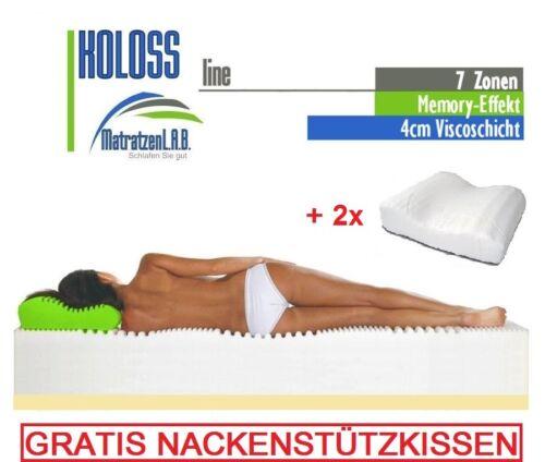 H3 XXL 25 cm 7 ZONEN Kaltschaum /& Visco Matratze KOLOSS 160x200 H2