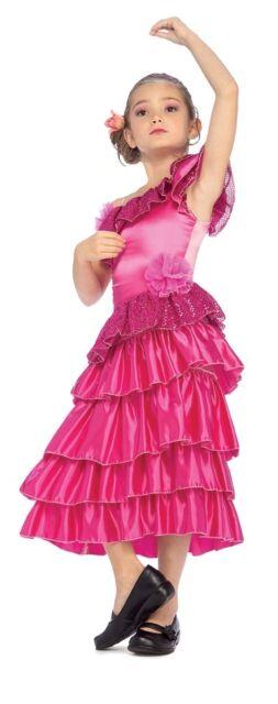Sophisticated Hot Pink Fuchsia Spanish Princess Girls Costume, Rubies 882728