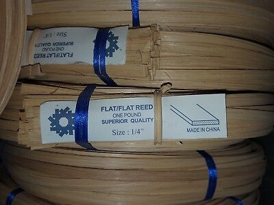 "Flat Reed 1/4"" 1 Pound Chair Caning Basketry"