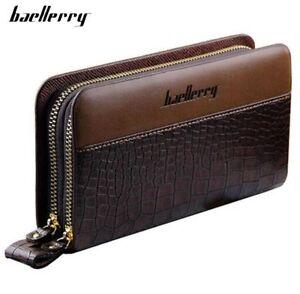 Men-Leather-Long-Clutch-Business-High-Capacity-Purse-Double-Zipper-Casual-Wallet