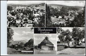 NEUHAUSEN-Erzgebirge-Sachsen-DDR-Mehrbild-Postkarte-ua-Dachsbaude-Kammbaude
